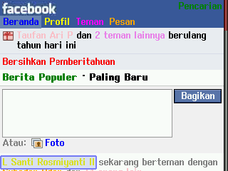 layout facebook